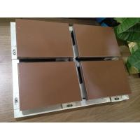 China Decorative Building Coffee A3003 / A5052 Aluminum Honeycomb Panels Fabricated Frame wholesale