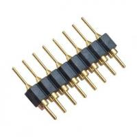 China DIP WCON Connector PCB 2.54mm Round Pin Connector 8 Pin With PPS PA46 Or PA6T Insulator wholesale