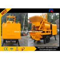 Quality Mobile Concrete Mixer Pump Trailer With Twin - Shaft Mixer 380v for sale