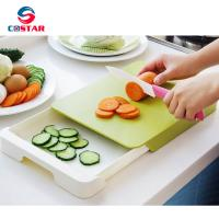 China Plastic Chopping Block Multifunctional Drawer Storage Chopping Block Double Layer Antibacterial Cutting Board wholesale