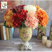 China UVG FHY25 fabric artificial hortensia wholesale silk flower hydrangea for home decoration on sale