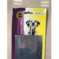 China Pet Food Packaging Aluminum Foil Stand Up Pouch With Easy Open V - Cut Tear on sale