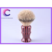 China Executive Silvertip Badger Shaving Brush gift set red and black striple color acrylic handle wholesale