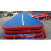 China Professional Inflatable Gymnastics Mat Blue Red 20m Bouncy Tumbling Mat wholesale