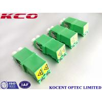 Buy cheap Automatic Shutter Cap Fiber Optic Adapter Duplex LC/APC PBT Green Without Flange from wholesalers