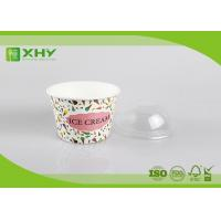 8oz Custom Logo Printed Disposable Ice Cream Cups Containers with Dome Lids Food Grade Certificated