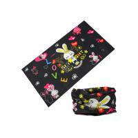 Rabbit Design Kids Buff Headwear 25*50 CM Microfiber Polyester