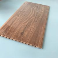 China 10 Inches Brilliant Brown Color PVC Wood Panels Corrosion Resistance Various Styles wholesale
