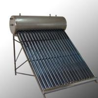 China Stainless Steel 24 Vacuum Tubes Pre-Heating Compact Solar Water Heater 200L OEM wholesale