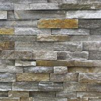 China Natural stone , Granite Stacked Stone Pink Quartzite Stone Rock Face Wall cladding on sale