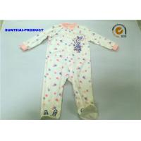 China Rabbit Applique Newborn Baby Coverall , Customized Unisex Pram Suits For Babies wholesale