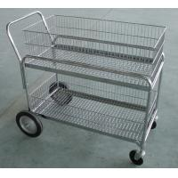China Mail / Goods Transit Steel Rolling Cart Four Wheels Hand Truck For Workshop wholesale
