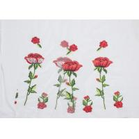 China Polyester Embroideried Mesh Rose Lace Fabric , Floral Lace Netting Fabric OEM Service wholesale