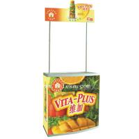 China Customs Cardboard Floor Displays Stand for Food Displays with poles wholesale