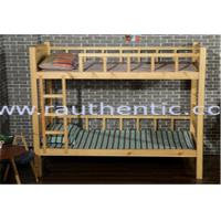 China Natural Kids Wooden Bunk Beds , Contemporary Eco - Friendly Wooden Loft Bed wholesale