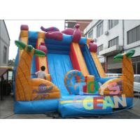 China Octopus Theme Gaint Inflatable Slides For Playground , Inflatable Water Slide Rentals wholesale