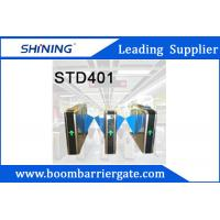 China 600MM Width Smart Flap Turnstile / RFID Card Swing Barrier For Shopping Mall wholesale