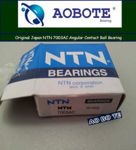 Quality Plastic Machinery 7003AC Angular Contact Ball Bearing ,NTN Ball Bearings for sale