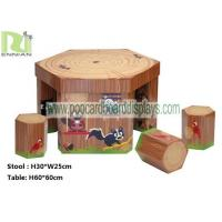 China Regular Hexagon Cartoon Cardboard Desk and Chair with Maze for Children on sale