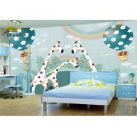 China Nursery Decor Fabric Wall Covering Formaldehydeless Unique 4 Layer Structure wholesale