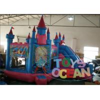 Quality Funny 5 in1 Giant Princess Castle 	Inflatable Bouncer Combo For Children Park for sale