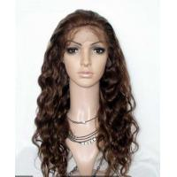 China Kinky Curly Remy Human Hair Lace Front Wigs Adjustable Straps No Tangling wholesale