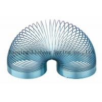 China Blue Colored Metal Slinky , Metal Coil Spring Toy Eco Friendly Material wholesale