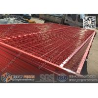 """Quality 8ft Temporary Construction Fencing with 1"""" square tube frame and high visible for sale"""