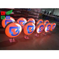 China Diameter 500mm LED Light Box Display , Outdoor Light Box With Printed Vinyl Stickers wholesale