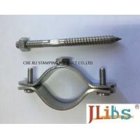 China Wall Mount Pipe Bracket Stainless Steel Pipe Clamps With Nut Tapping Screw Nylon Plug on sale
