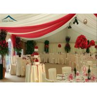China Luxury Roof Linings / Curtains Large Wedding Tents For Outdoor Events wholesale