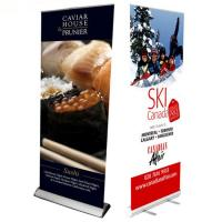 Quality Custom Large Retractable Display Banners , Advertising Trade Show Roll Up Banners Stand for sale