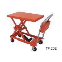China Fireproof Electric Hydraulic Lift Table , 200kg Industrial Lift Tables For Logistics wholesale