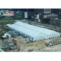 China Heat Resistant TFS Tents 40 x 90 M With Fire Retardant White PVC Fabric For Events wholesale