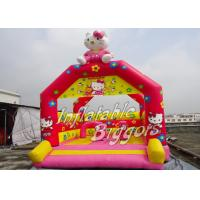 China Red Indoor Commercial Inflatable Bouncy Toys For Kids , Hello Kitty Inflatable Christmas on sale