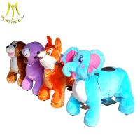 China Hansel 2018 popular shopping mall ride on animals coin operated plush electric rideable animal toy wholesale