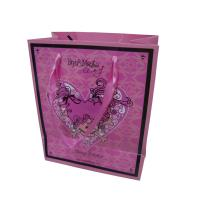 China Branded Coloured Paper Bags , Custom Favor Bags Full Color Smooth Surface Easy Take wholesale