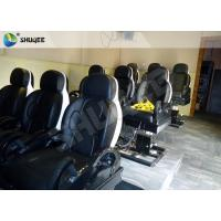 China 3 DOF Pneumatic System 5D Movie Theater Luxury Black Chair Yellow 3D Glasses wholesale