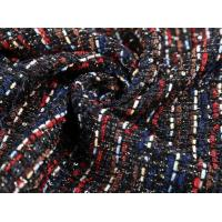 Buy cheap Stretch Suiting Fabric / Striped Wool Fabric Mixed Combination Color from wholesalers