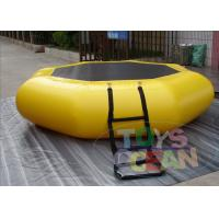China Dia 3m Inflatable Water Bouncer Trampoline Durable Tarpaulin wholesale