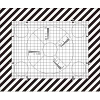 China SineImage NJ-10-100A Reflective/Transparent Grid Test Chart  for operational adjustment and control of TV cameras wholesale