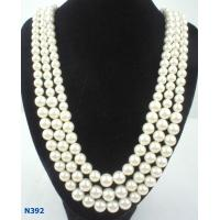 China Silver Color Jewelry Beaded Pearl Necklaces with Claw Chain for Anniversary wholesale