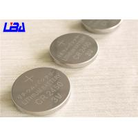 China High Capacity Button Cell Battery , High Energy Density Cr2450 3v Battery wholesale