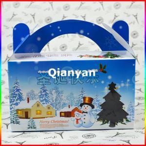 China Christmas greeting card and box / gift card box / Paper gift card box wholesale