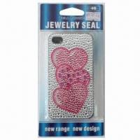 China Sticker for iPhone 4, with Heart Design, Available in Plastic Case, Safe and Nontoxic wholesale