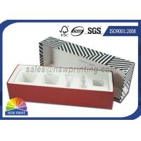 China Luxury Paper Gift Box Cosmetic Rigid Cardboard Box With Flocking Plastic Blister wholesale