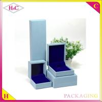 China Luxury pu leather jewelry gift box wholesale
