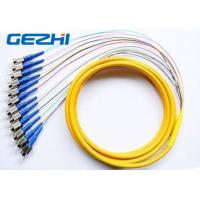 Wholesale Multi - fiber 12 Core Fiber Optic Pigtail  , 1Meter or 1.5 m FC Ribbon Pigtail from china suppliers
