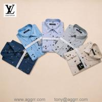 China LV men plaid shirts ,printing shirts ,long sleeve shirt, brand shirts wholesale
