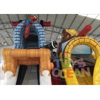 China Kids Outdoor Private Ship Dragon Inflatable Jumping Castle Slide Bouncer Combo wholesale